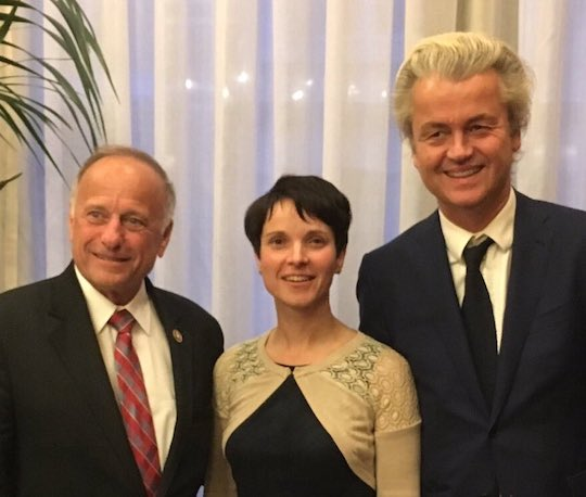 Rep. Steve King (R-IA) with far-right Eurotrash Frauke Petry and Geert Wilders