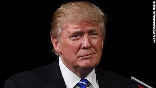 Donald Trump expresses the same emotion as the : / emoticon