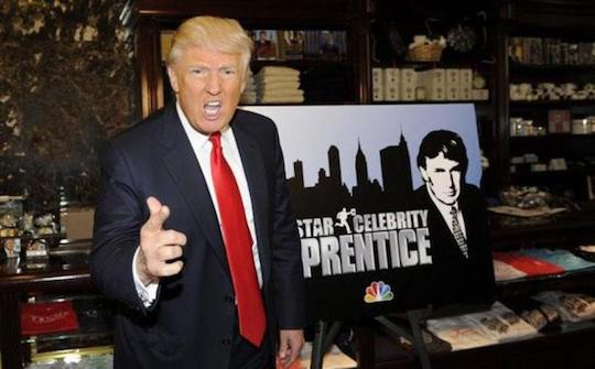 Trump on Celebrity Apprentice, since we don't yet have pictures of him in the Oval fucking Office