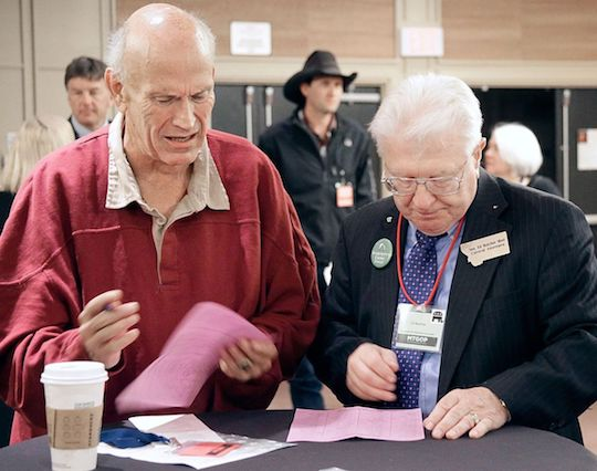Montana Republican Ed Butcher (right) and Snoop Dogg